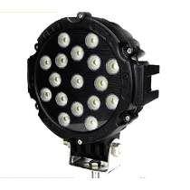 Farol de LED Milha 51w 17 LEDs Preto 18cm 7 Pol – (PRETO)
