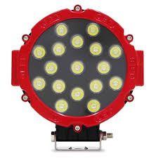 Farol de LED Milha 51w 17 LEDs Preto 18cm 7 Pol – (VERMELHO)