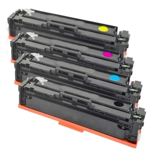 Kit 4 Toner Compativel 410a Cf410a Cf411a Cf412a Cf413a
