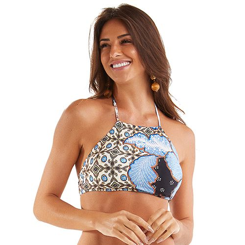 BUSTO CROPPED FLORAL GEOMÉTRICO