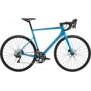 Bicicleta Cannondale SuperSix EVO Disc 105 na cor azul (modelo 2021)