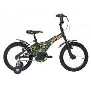 "Bicicleta Groove camuflada 16"" na cor verde"