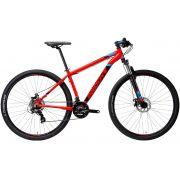 Bicicleta Groove Zouk 21 Velocidades na cor vermelho