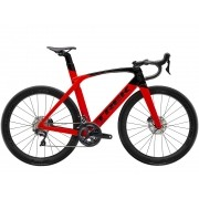 Bicicleta Trek Madone SL6 Disco na cor Radioactive Red/Trek Black