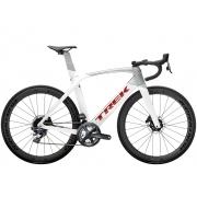 Bicicleta Trek Madone SL6 na cor Crystal White/Quicksilver