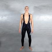 Calça Bretelle Flets Basic Compression Masculino na cor Preto