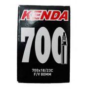 Câmara de ar Kenda 700x18/23c com válvula de 80mm