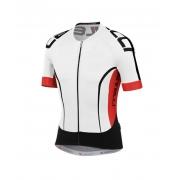 Camisa Castelli Aero Race 5 na cor Branco e vermelho