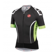 Camisa Castelli Aero Race 5 na cor Preto E Verde