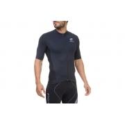 Camisa Flets Masculina manga curta sem recorte na cor preto