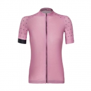 Camisa Volta Pink Polka Dot Jersey (Feminina)