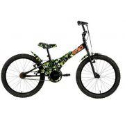 "Bicicleta Groove camuflada 20"" na cor verde"