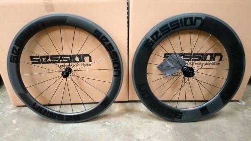Rodas para Bicicleta de Triathlon Session C60/C85 Carbon (freio no aro)