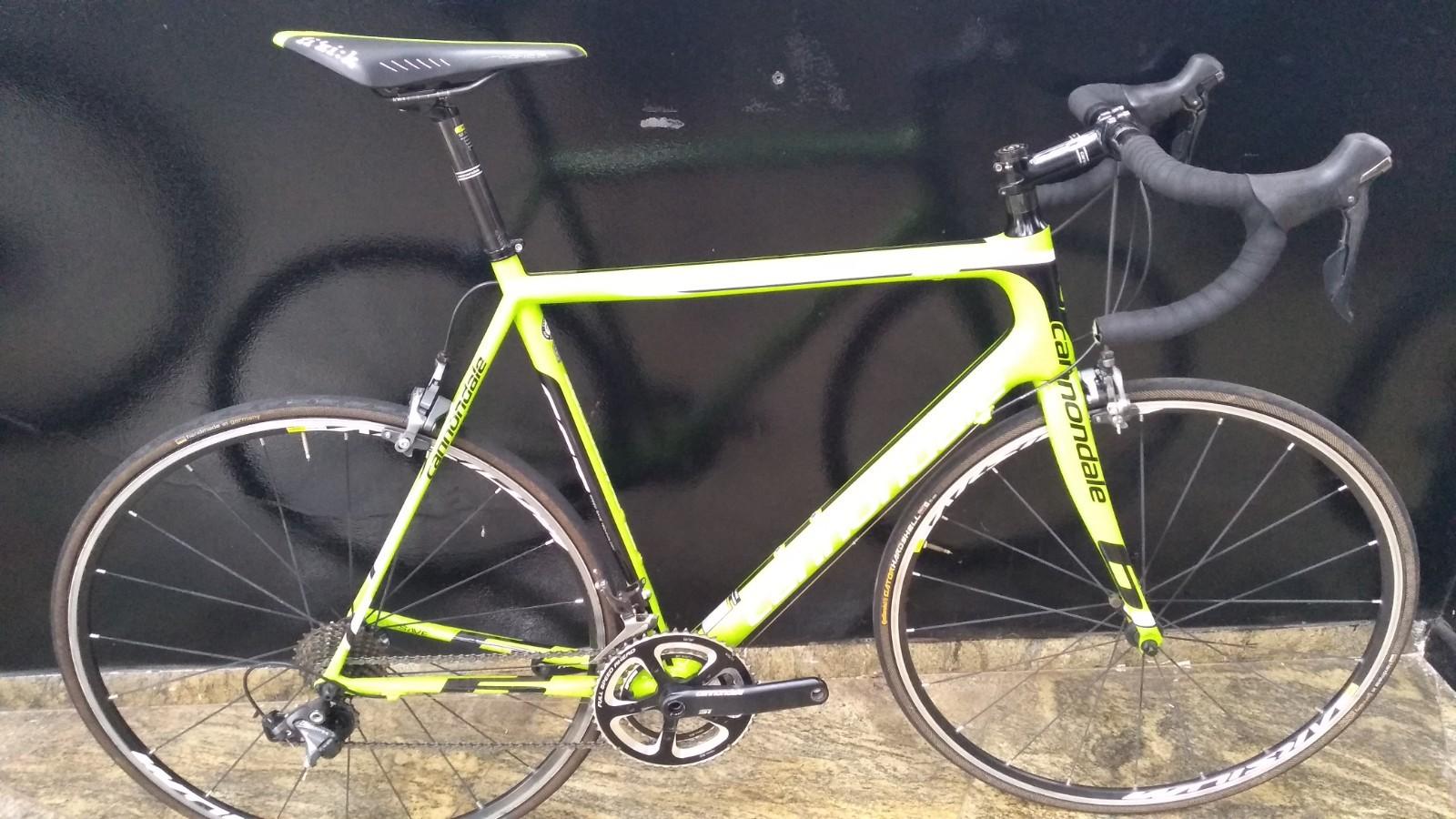 Bicicleta Cannondale SuperSix EVO 3 Ultegra 6800 - tamanho 58 (produto usado)