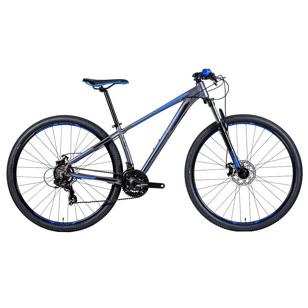 Bicicleta Groove Hype 10 aro 29 21v DM na cor Grafite/Verde/Preto Fosco