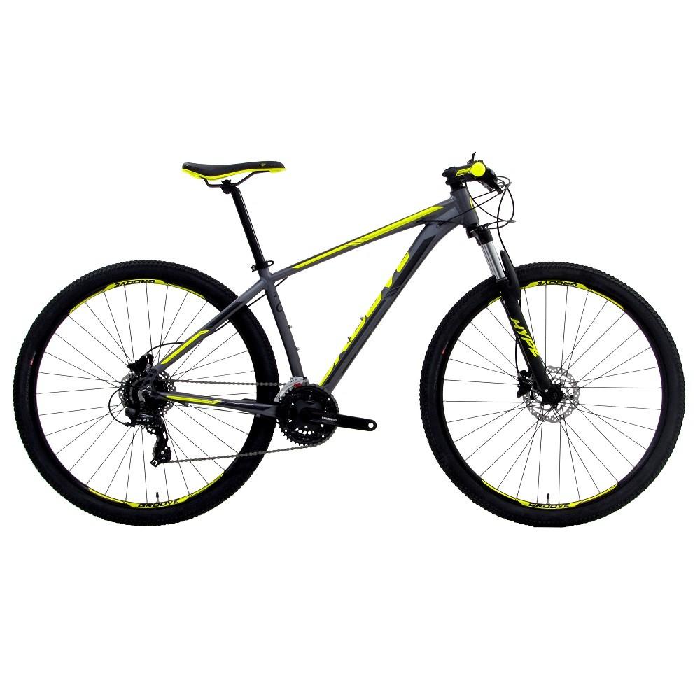 Bicicleta Groove Hype 24v HD na cor Grafite, Preto e amarelo fosco
