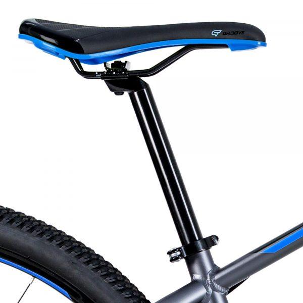 Bicicleta Groove Hype 30 21v HD na cor Grafite/Azul/Preto Fosco