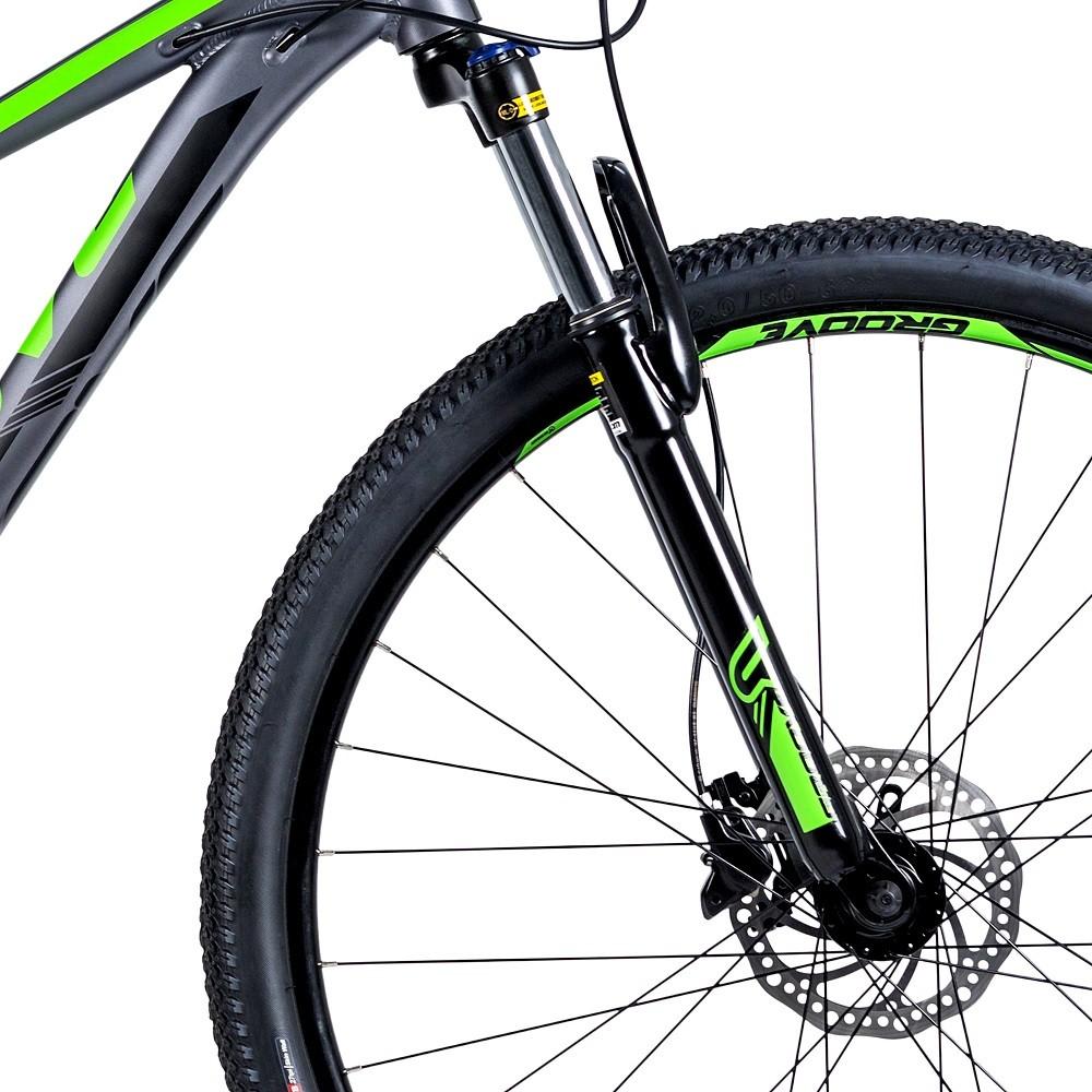 Bicicleta Groove Hype 30 21v HD na cor Grafite/Verde/Preto Fosco