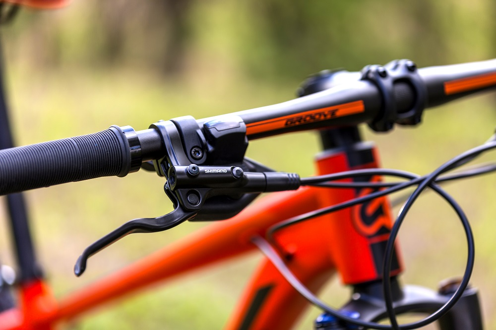 Bicicleta Groove Hype 30 21v HD na cor Vermelho/Laranja/Preto Fosco