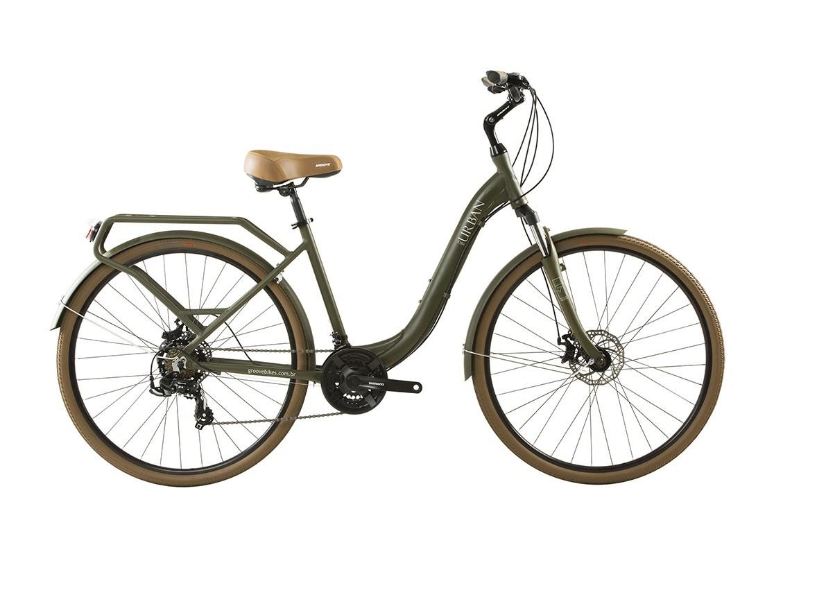 Bicicleta Groove Urban MD na cor verde oliva