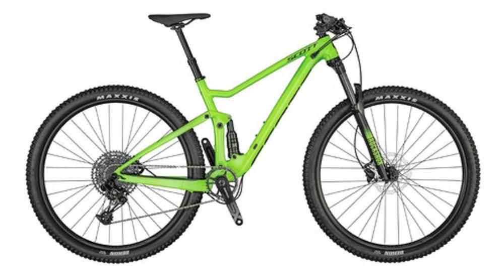 Bicicleta Scott Spark 970 na cor verde