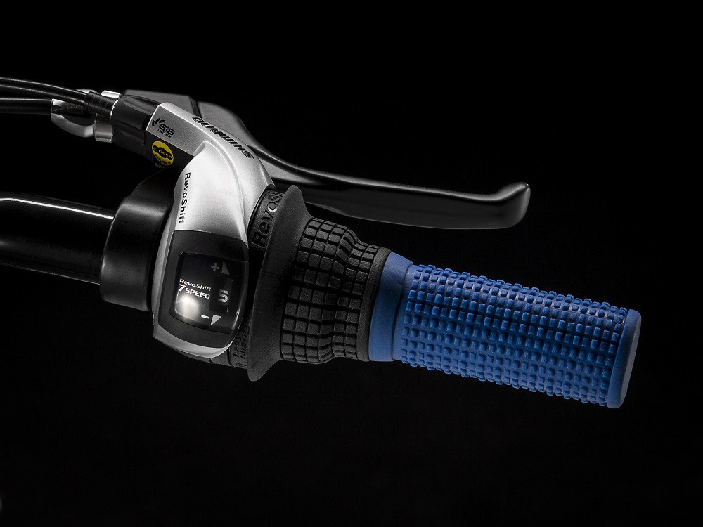 Bicicleta Trek Precaliber 20 com 7 velocidades na cor Alpine Blue