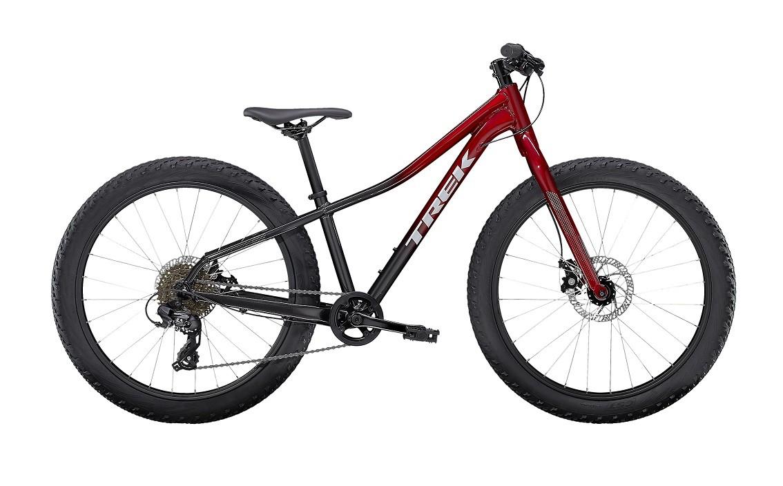 "Bicicleta Trek Roscoe 24"" na cor Rage Red to Dnister Black Fade"
