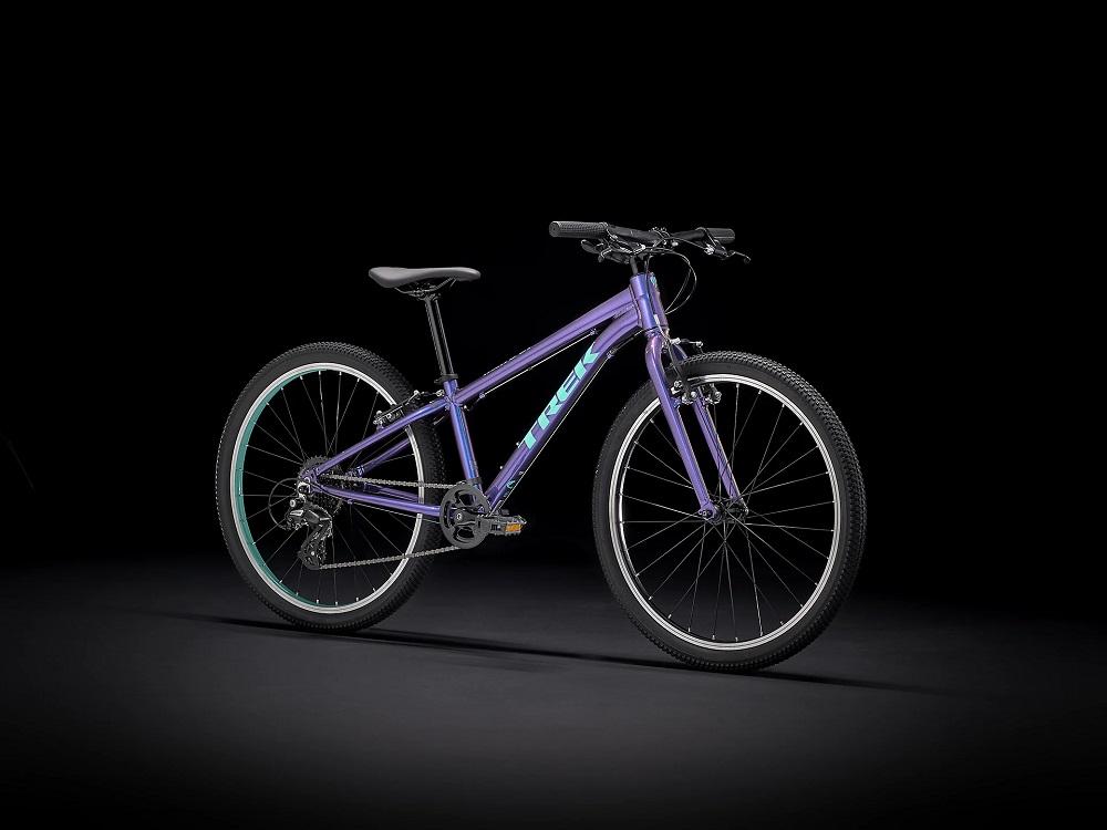"Bicicleta Trek Wahoo aro 24"" na cor Purple Flip"