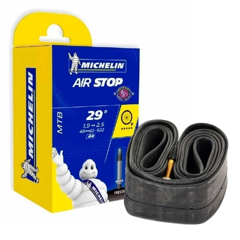 "Câmara de Ar Michelin Air Stop MTB 29"" com válvula de 40mm"