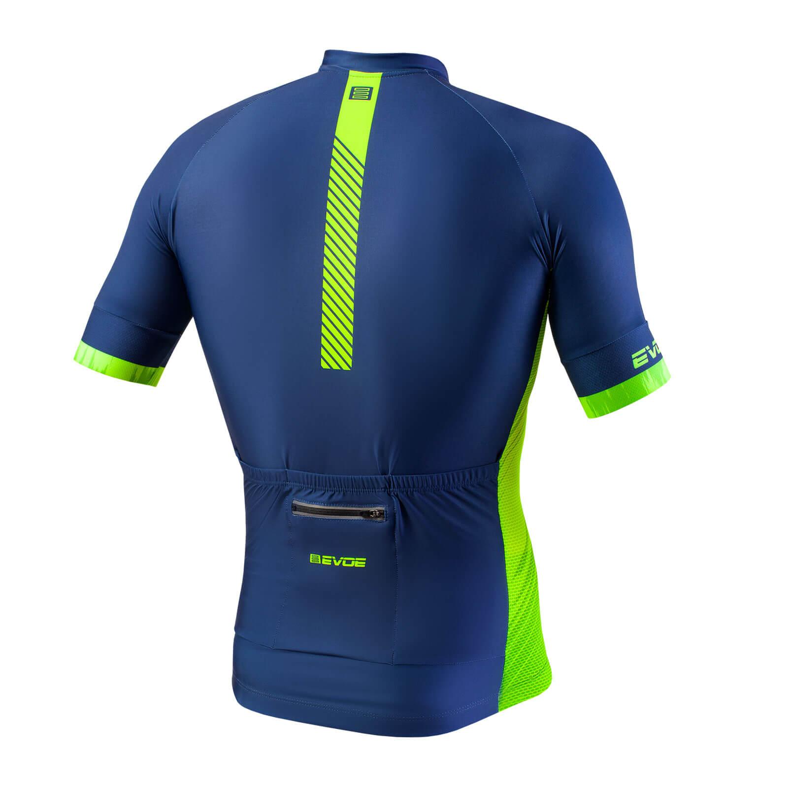 Camisa Evoe na cor Azul/Amarelo Neon
