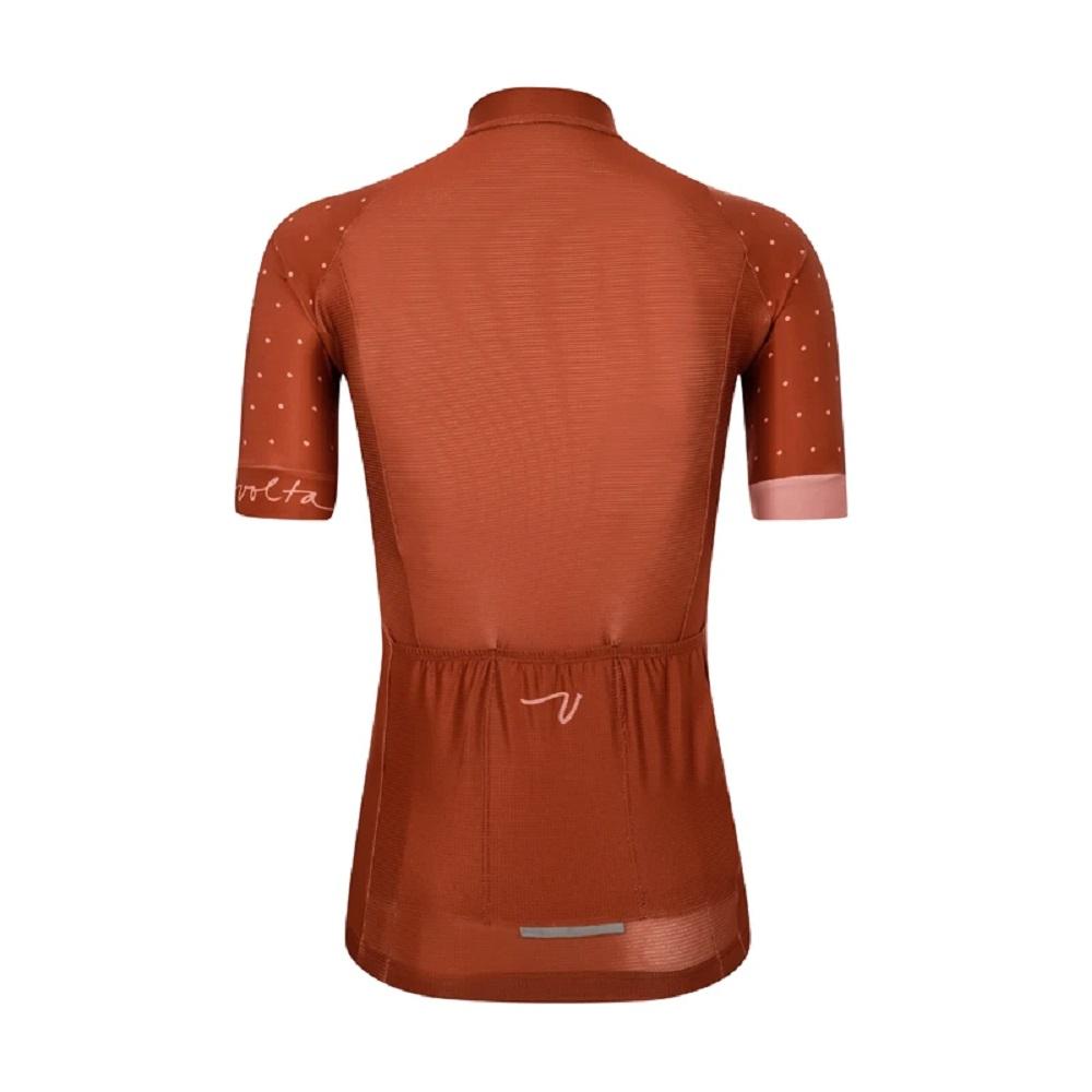 Camisa Volta Speedster Jersey Polka Dot Terracota (Feminina)