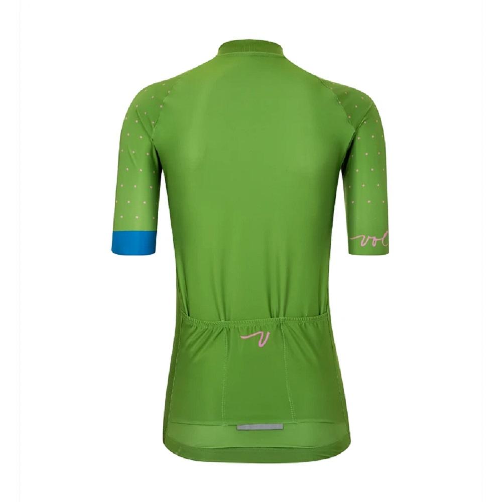 Camisa Volta Speedster Jersey Polka Dot Verde (feminina)