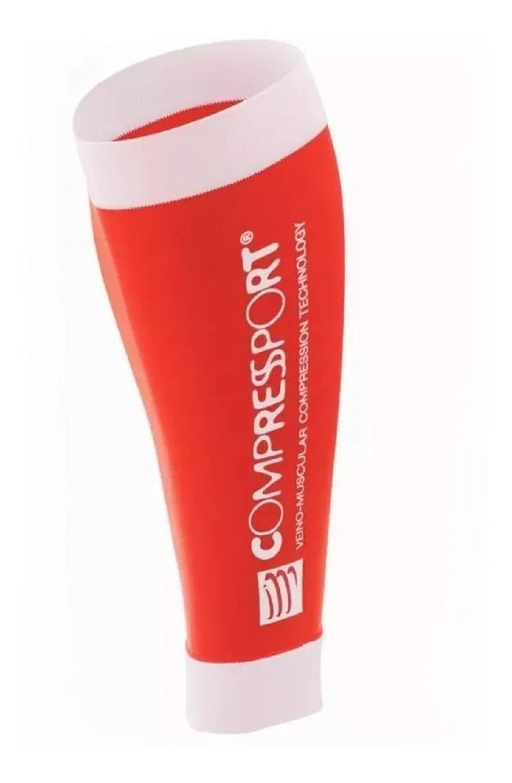 Canelito de Compressão Compressport R2 na cor vermelho