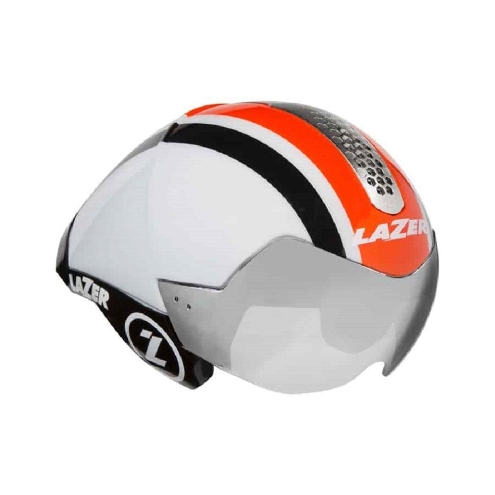 Capacete Lazer Wasp Air na cor branco, laranja e preto
