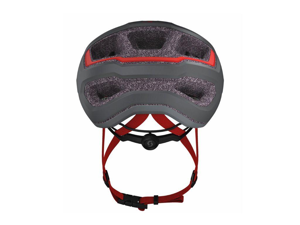 Capacete Scott ARX 2020 na cor cinza com vermelho - Tamanho 55-59cm