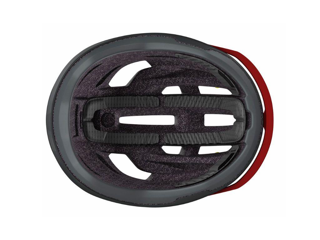 Capacete Scott ARX 2020 na cor cinza com vermelho