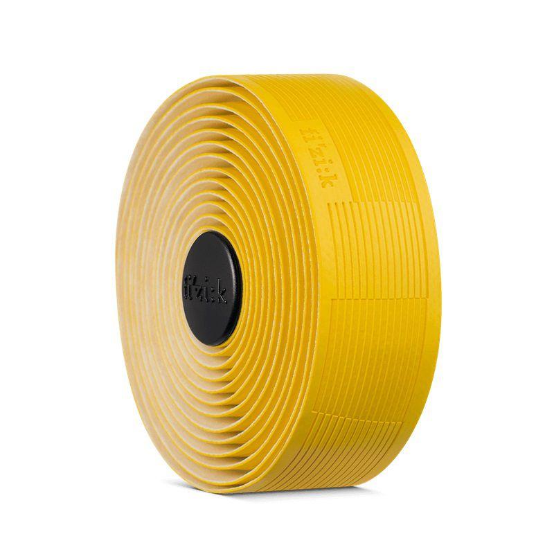 Fita de Guidão Fizik Vento Solocush Tacky na cor amarelo 2.7mm