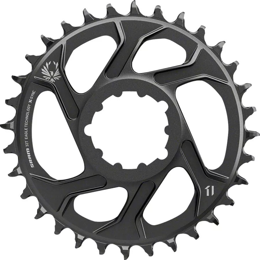 Coroa Sram XX1 Eagle 12v offset de 6mm (Preto)
