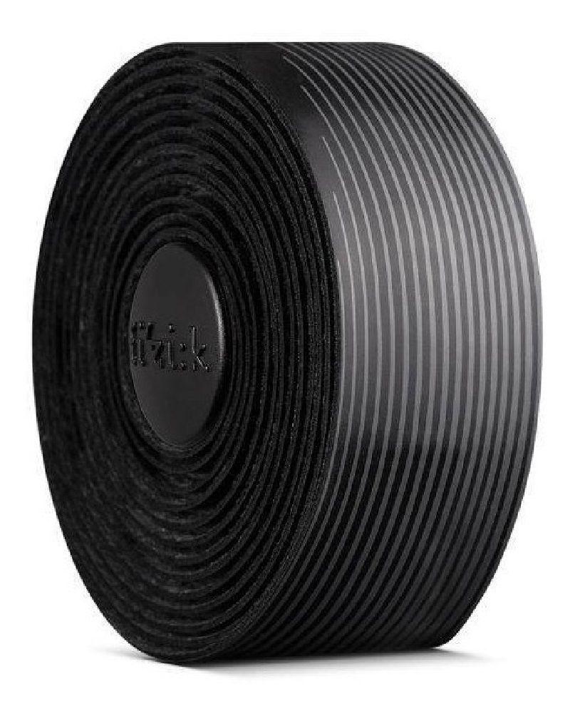 Fita de Guidão Fizik Vento Microtex Tacky na cor preto/cinza