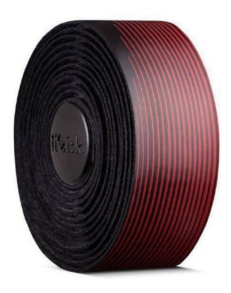 Fita de Guidão Fizik Vento Microtex Tacky na cor preto/vermelho 2mm