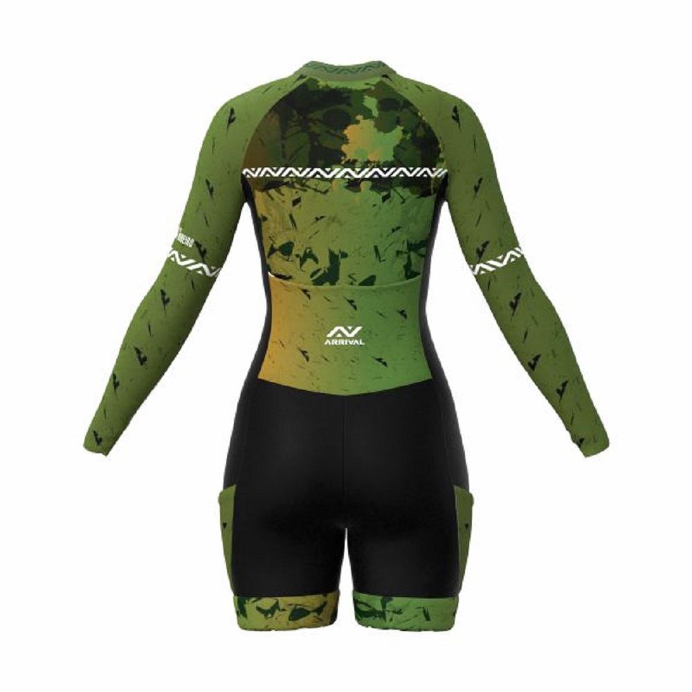 Macaquinho Arrival Ultra XC Camuflado Verde com top