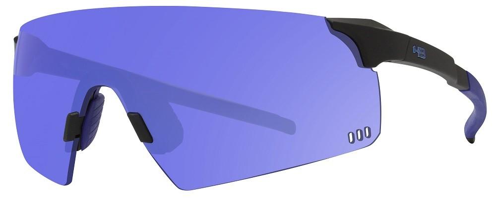 Óculos de Sol HB Quad R Matte Black Blue Chrome