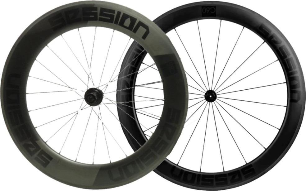 Rodas para Bicicleta de Triathlon Session C60/C85 Carbon (freio no disco)