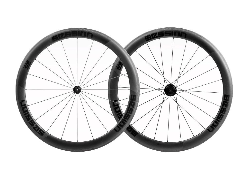 Rodas Session C60 Carbon Clincher (freio no aro)