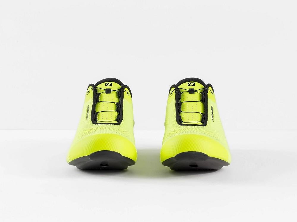 Sapatilha Bontrager Ballista Knit para ciclismo de estrada na cor amarelo fluo