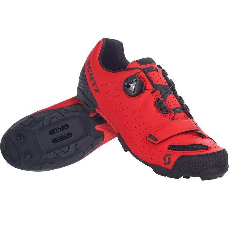 Sapatilha Scott Comp BOA na cor vermelho e preto