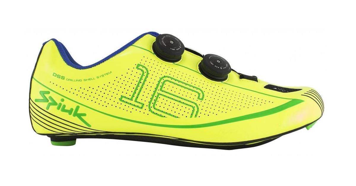 Sapatilha Spiuk 16RC para ciclismo de estrada na cor amarelo