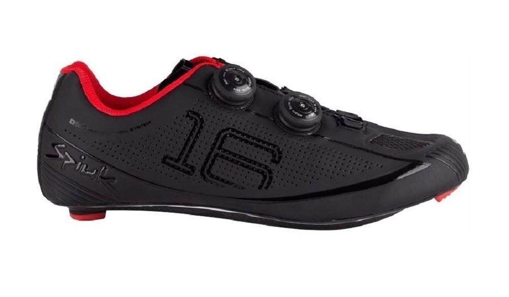Sapatilha Spiuk 16RC para ciclismo de estrada na cor preto e vermelho
