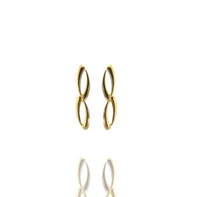 Brinco Dourado Lis Metal Banhado a Ouro Barbara Strauss