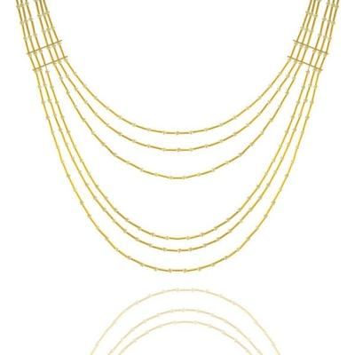 Colar Barbara Strauss Sorrento Em Pérola Lalique, Revestido Em Ouro 18K